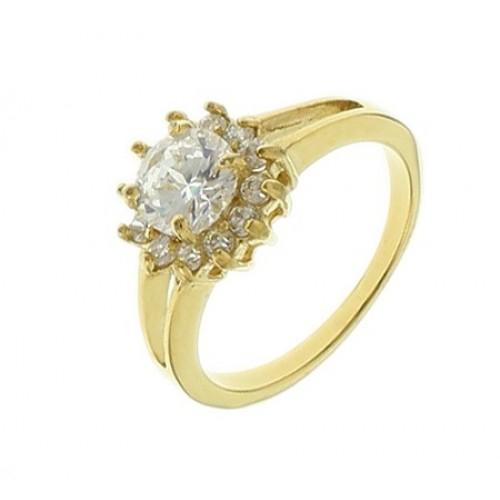 Кольцо для предложения (помолвки) из ювелирной стали Императрица