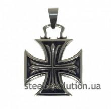 Мужская подвеска-крест из медицинской стали
