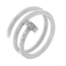 Кольцо сталь для женщин Стальной гвоздь с циркониями