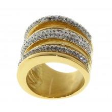Стальное кольцо женское 1,8 см