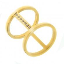 Стальное кольцо женское Виолетта