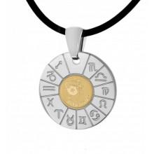 Кулон-зодиак Водолей из медицинской стали