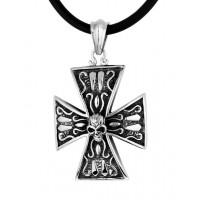 Кулон - крест из стали ПС-2138