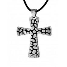 Мужской крест из стали декоративный