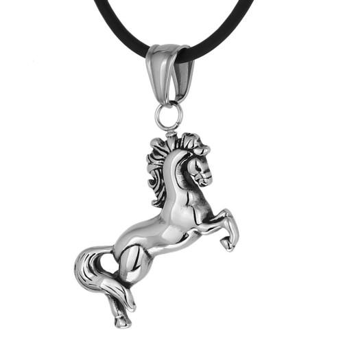 Женский кулон из медицинской стали в виде лошадки