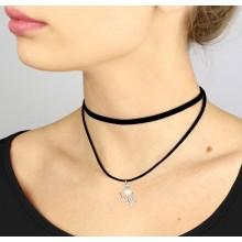 Чокер-ожерелье с абстракцией