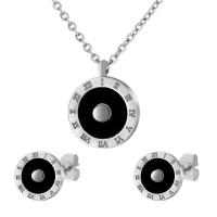 Набор из стали (серьги и кулон) ПС-2395