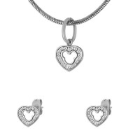 Набор из стали (серьги и кулон) ПС-2414