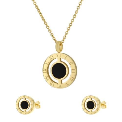 Женский набор ювелирной бижутерии (серьги и кулон) Сантали