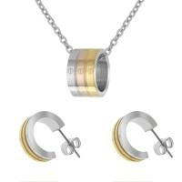 Набор из стали (серьги и кулон) ПС-2454