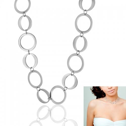 Женский набор украшений из хирургической стали (подвеска + браслет) Мельхора