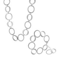 Набор из стали (Колье + браслет) БС-2824