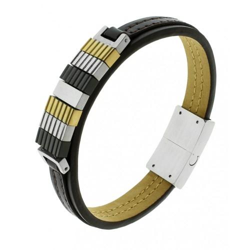 Кожаный браслет БС-2940