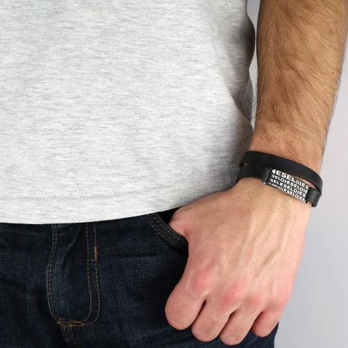 Кожаный браслет БС-2954