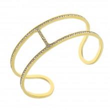 Женский браслет-манжет из медицинской стали с покрытием под золото