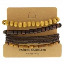 Мужские кожаные браслеты Цвет изделия Коричневый купить №17