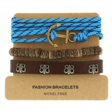 Набор кожаных браслетов Casual БС-3205