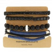 Набор кожаных браслетов Casual БС-3208