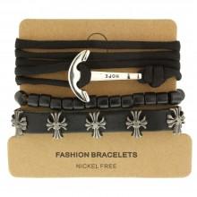 Мужские кожаные браслеты Цвет изделия Коричневый купить №16