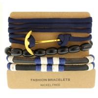 Набор кожаных браслетов Casual БС-3211