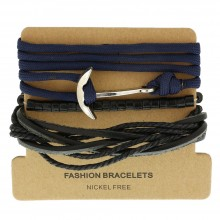 Набор кожаных браслетов Casual БС-3213