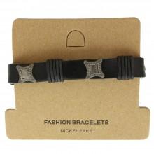 Мужские кожаные браслеты Цвет изделия Коричневый купить №12