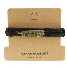 Мужские кожаные браслеты Цвет изделия Коричневый купить №11
