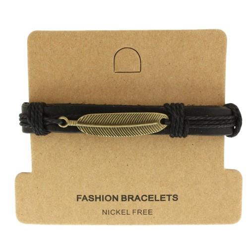 Кожаный браслет Casual БС-3226