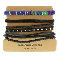 Набор кожаных браслетов Casual БС-3228