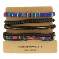 Набор кожаных браслетов Casual БС-3229