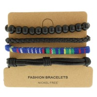 Набор кожаных браслетов Casual БС-3230