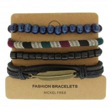 Набор кожаных браслетов Casual БС-3264