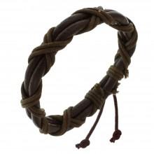 Мужские кожаные браслеты Цвет изделия Коричневый купить №15