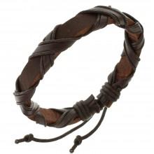 Мужские кожаные браслеты Цвет изделия Коричневый купить №14