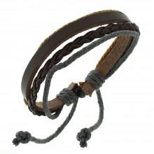 Мужские кожаные браслеты Цвет изделия Коричневый купить №4