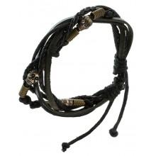 Мужские кожаные браслеты Цвет изделия Черный купить №22