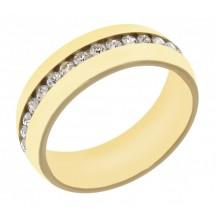 Кольцо с фианитом медицинское золото Аврора