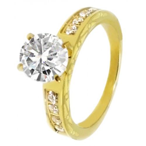 Кольцо для предложения (помолвки) из медицинского золота Лютеция