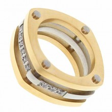 Кольцо сталь для женщин Бургундия