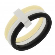 Кольцо с фианитом медицинский сплав