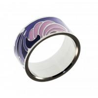 Кольцо из стали и эмали КС-1245