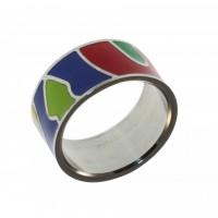Кольцо из стали и эмали КС-1246
