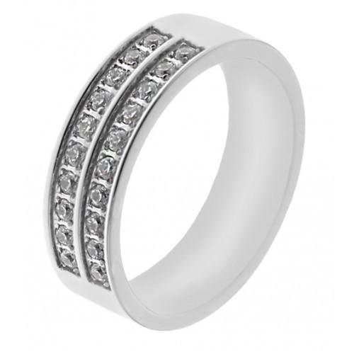Женское кольцо из стали 6 мм