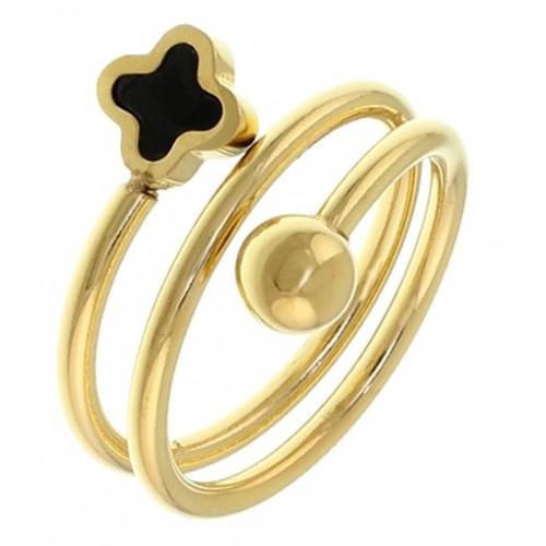 Женское кольцо из стали Альгамбра