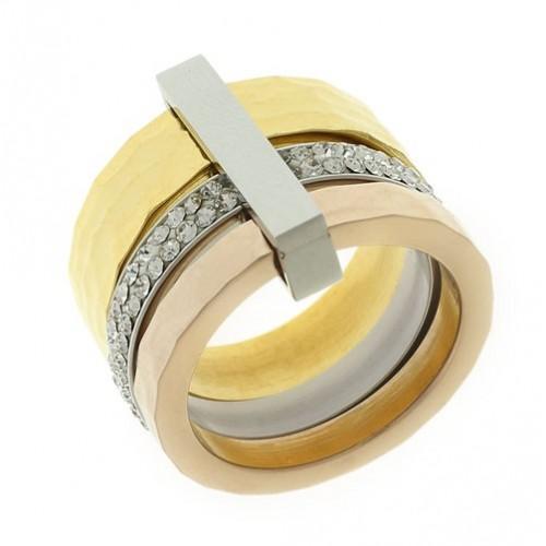 Кольцо из медицинской стали женское 1,7 см