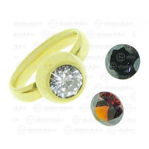 Кольцо для предложения (помолвки) из ювелирной стали Алиенора