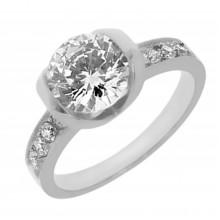 Кольцо для помолвки стальное Luxury