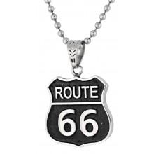 Стальной кулон на шею Route 66