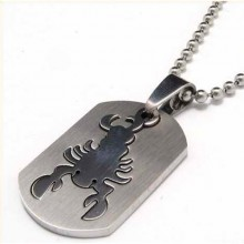 Кулон-зодиак Скорпион стальной
