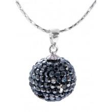 Кулон для женщин с темно-серыми кристаллами